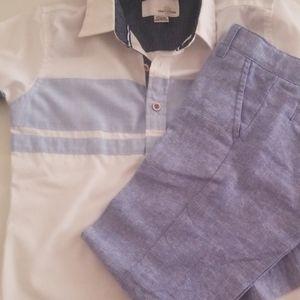 Cat&Jack slacks& shirt